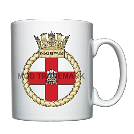 Hms Prince Of Wales Personalised Mug Amazon Kitchen Home