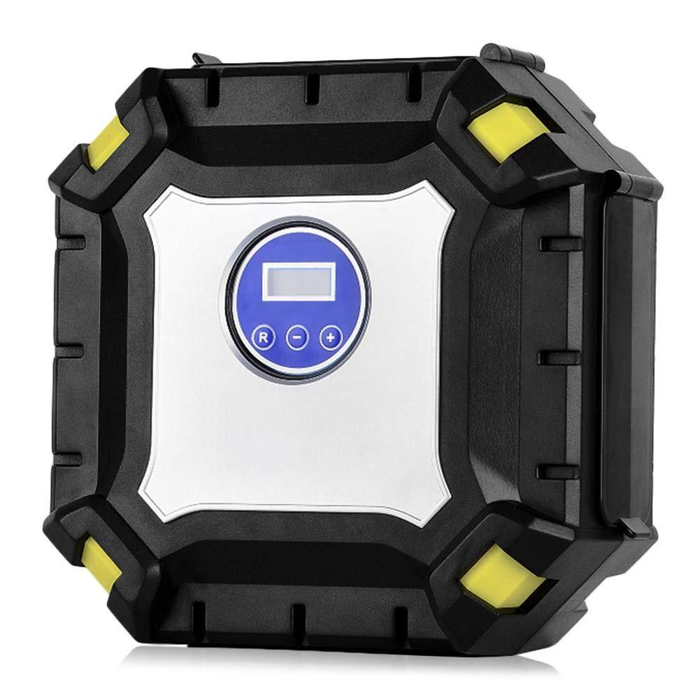 GEGEQUNAERYA Compresor de Aire del ABS de la Bomba del inflador del neumático de Coche 12V con la Bomba Inflable de la Pantalla LED de la luz del LED: ...