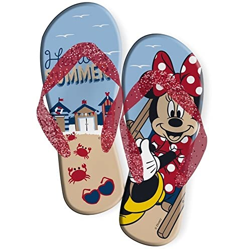 Minnie Mickey Disney Minnie Mouse Chanclas de Playa y ...