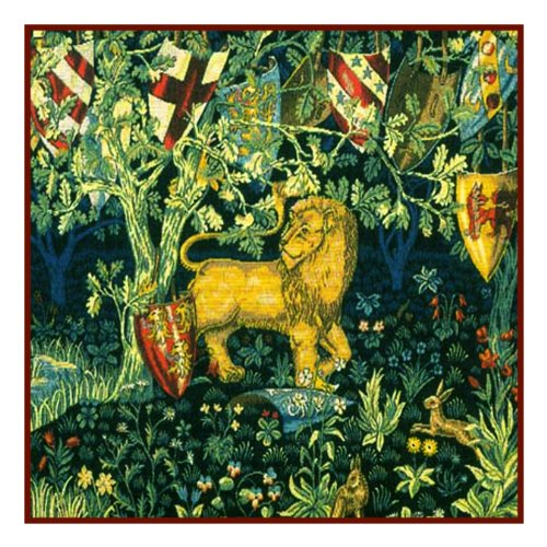 Orenco Originals Heraldry Lion by William Morris Counted Cross Stitch Pattern