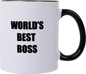 The Office Mug-World's Best Boss Mug-11 OZ Ceramic Coffee Cup,Unique Bosses Day Present Idea Gifts
