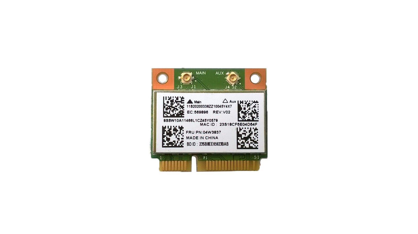802.11BGN WiFi&Bluetooth 4.0 for Lenovo G400/G410/G500/G510/G405/G505/E431/E531/E430C/E530C/E135/E145/X140E/S431/S531/L430/L530/E535/E330/E335/E435/E545 by aPower Plus