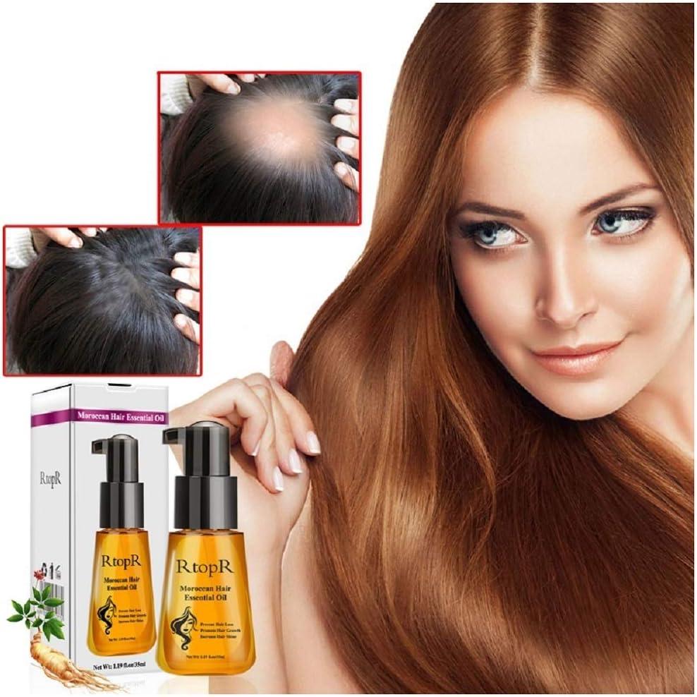 3/5 piezas de aceite de hierbas marroquíes para el cabello previene la pérdida de cabello Crecimiento del cabello Aceite esencial Fácil de llevar Enfermería Tanto hombres como mujeres (5)