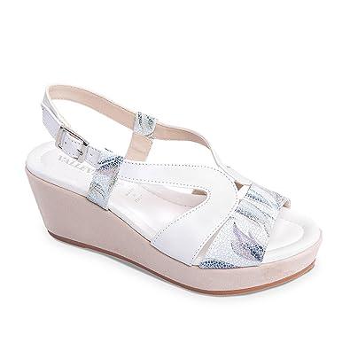 Frau Weiße Keil Schuhe Sandale Valleverde Billig Verkaufen Bilder FpysCKhDA
