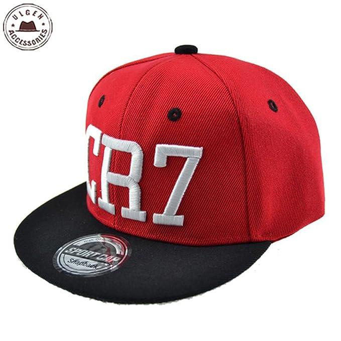66b15b666186a ULGEN Kids CR7 Baseball Cap Cristiano Ronaldo Hip Hop Sports Snapback Hat  Red  Amazon.ca  Clothing   Accessories