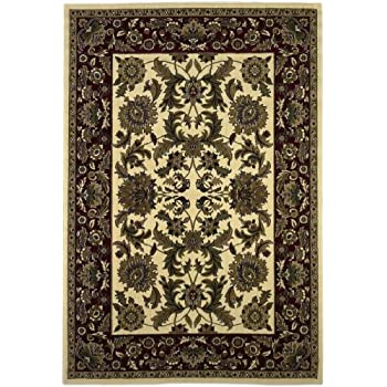 Amazon Com Area Rug 3x4 Rectangle Traditional Ivory Color