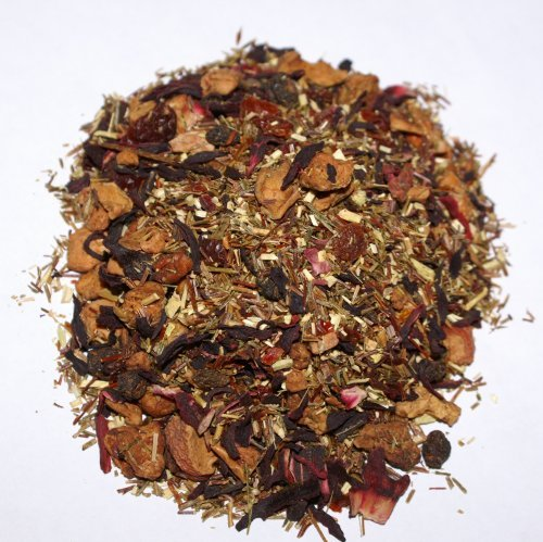 Scarlet - A Tisane (herbal) caffeine free tea with Rose hips, Hibiscus, cranberries, schizandra berries, mango, etc. 2 - 2oz packs.