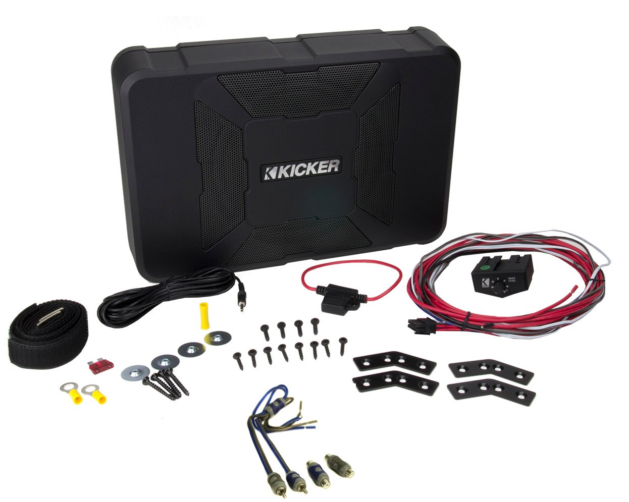 KICKER 11HS8 8'' 150W Hideaway Car Audio Powered Subwoofer Sub Enclosure+Adapter