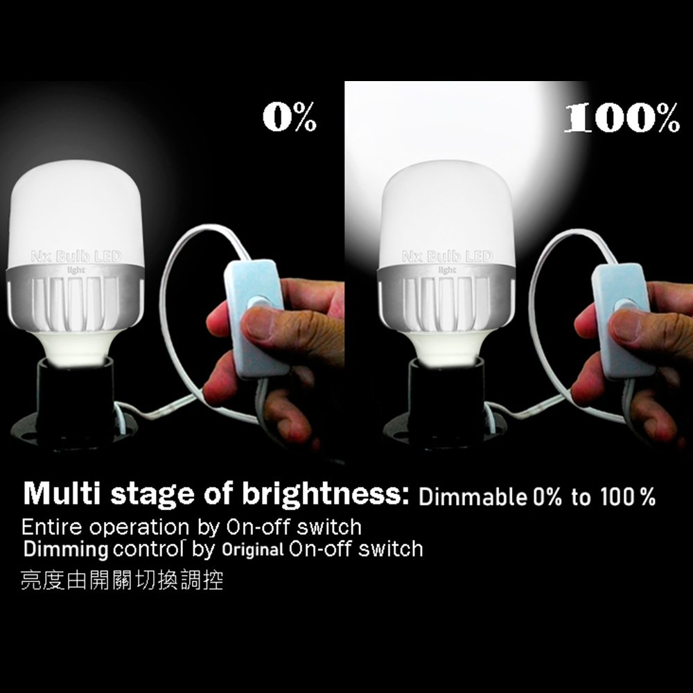 2pack)Nx 16wBulb- SNB16Nx 16w Auto switch dimmable Bulb light., Adjustable, Dimmable, No other dimmer device required, Work with exist switch, Entire operation by on-off switch.