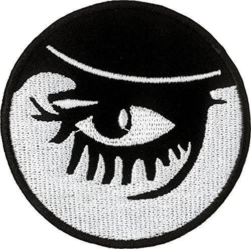 Clockwork Orange - Droog Eyes Close Up - Cut Out Embroidered Iron On or Sew On Patch
