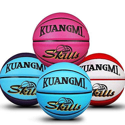 Kuangmi Multi-Color Basketball for Junior Kids Child Boys Girls Size 5 27.5