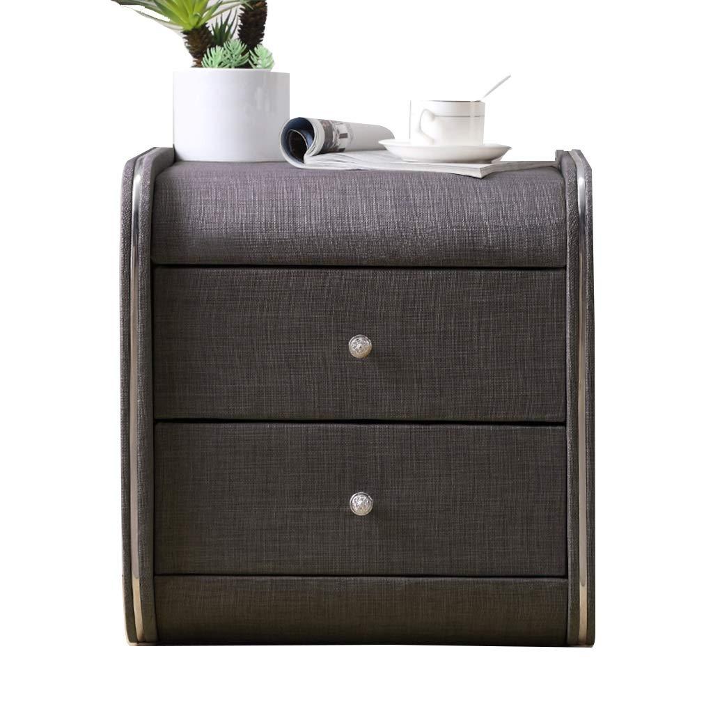 TY 布製ベッドサイドテーブル - 引き出しロッカー装飾表示キャビネット写真テーブルダブル引き出し/複数色/ 45 x 42 x 48cm ベッドサイドテーブル (色 : C) B07RLWBMZL C