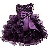 e90c3608ac09 Amazon.com: NNJXD Girl Dress Kids Ruffles Lace Party Wedding Dresses ...