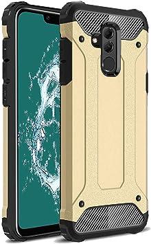 TenYll Huawei Mate 20 Lite Funda, protección contra Golpes de TPU+PC Resistente a arañazos(Doble Capa),para Huawei Mate 20 Lite Funda -Oro: Amazon.es: Electrónica