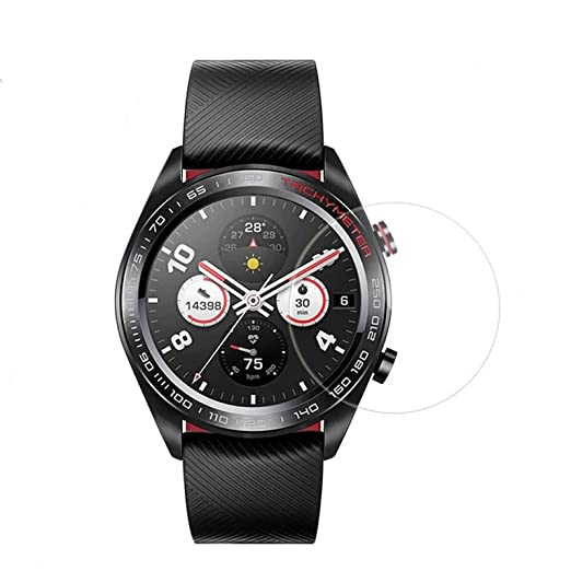 ... arañazos Anti Huella Digital y Aceite Mancha no Burbujas Ver película de Cristal Templado Protector para Huawei Honor Watch Magic: Amazon.es: Relojes