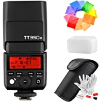 Godox TT350o 2.4G TTL Speedlite Flash for Olympus Panasonic Cameras - GN36 HSS 1/8000s 210 Power Full Flashes 22 Steps of Power Output(1/1-1/128) 24-105mm Auto/Manual Zooming with Pergear Cleaning Kit