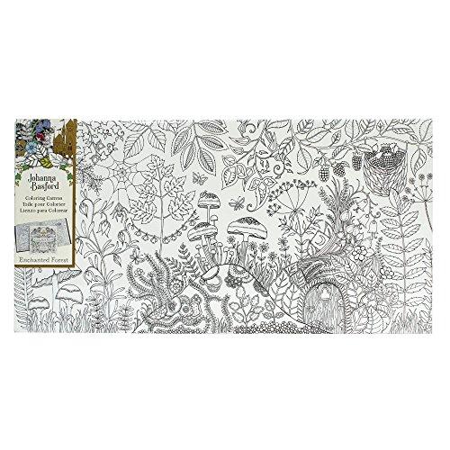 Johanna Basford Enchanted Forest Coloring Canvas - Mushroom Landscape