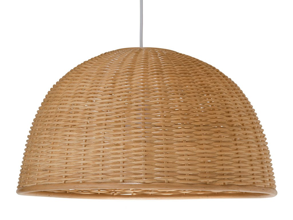 KOUBOO 1050031 Wicker Dome Pendant Light, 19.5 x 19.5 x 17.5, Natural