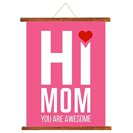 Buy YaYa Cafe Mothers Day Greeting Cards Hi Mom You Are Awesome Scroll Card For Wall Hanging Decor