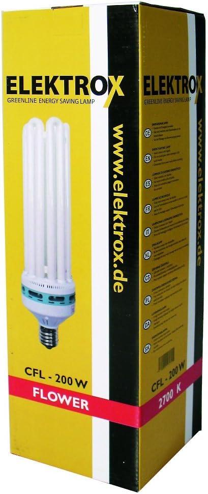 Elektrox - Bombilla de bajo consumo (CFL 2700 K floración Grow ESL Planta lámpara luz de planta de 85 W de 125 W 200 W Lámpara de planta de 250 W para plantas en fase de floración flores lámpara Inclu