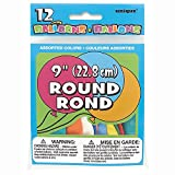 """9"""" Round Latex Balloons, Assorted 12ct"""