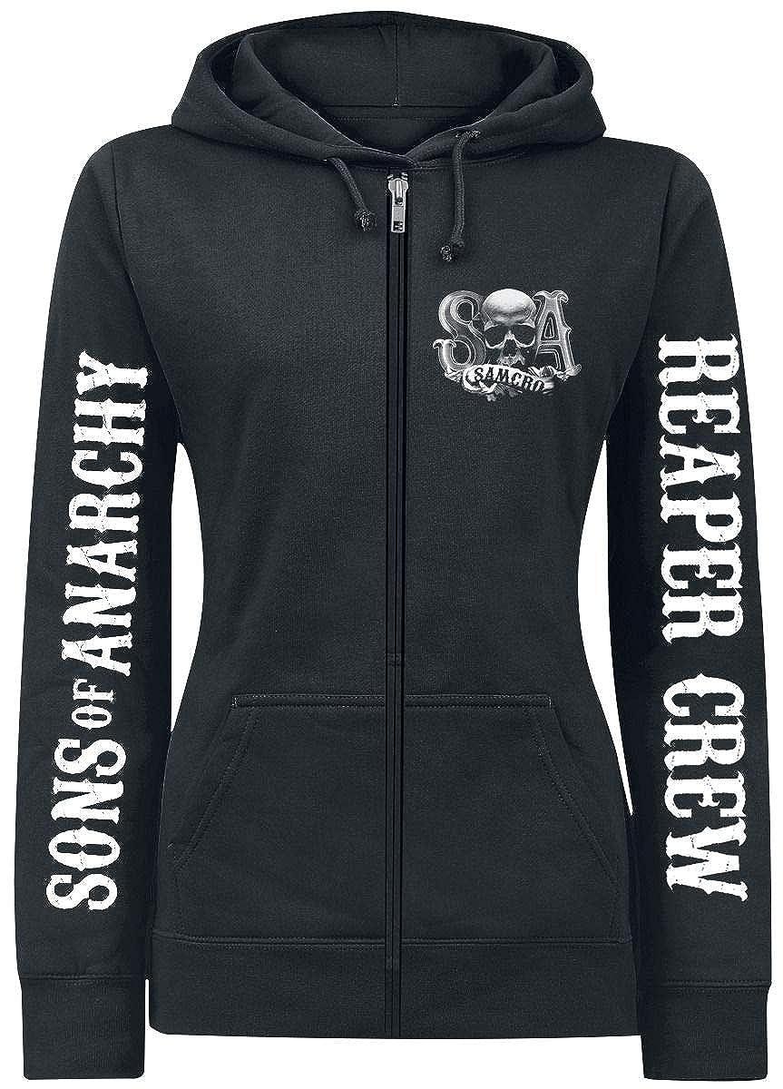 Sons Of Anarchy Reaper Crew Girl-Kapuzenjacke schwarz