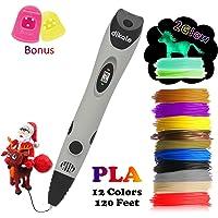 Dikale 07A 3D Pen Bonus 12 and 18 Colors Filament Refills