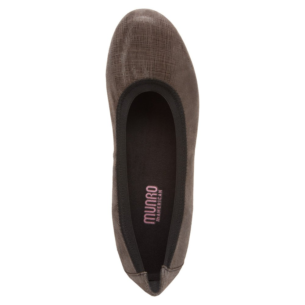 Munro American Women's Ashlie Grey Crosshatch US|Grey Flat B00DV4JBKM 12 B(M) US|Grey Crosshatch 265602