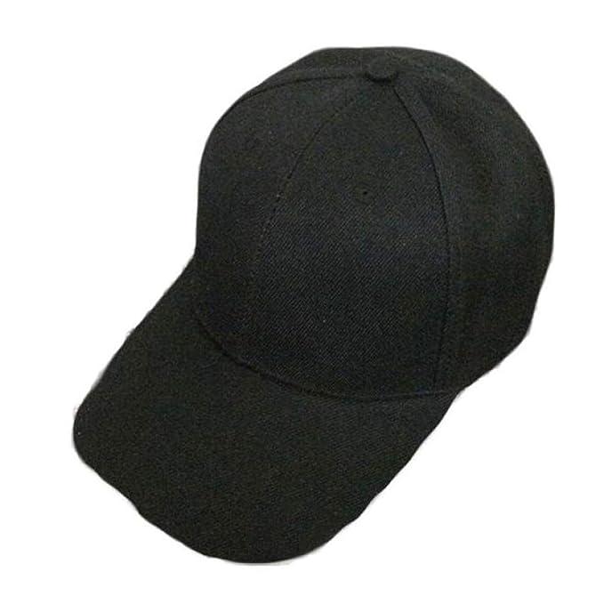 Canvas Baseball Cap Fashion Blank Hat Solid Color Adjustable Hat Feminino touca menino Cayler Summer Black