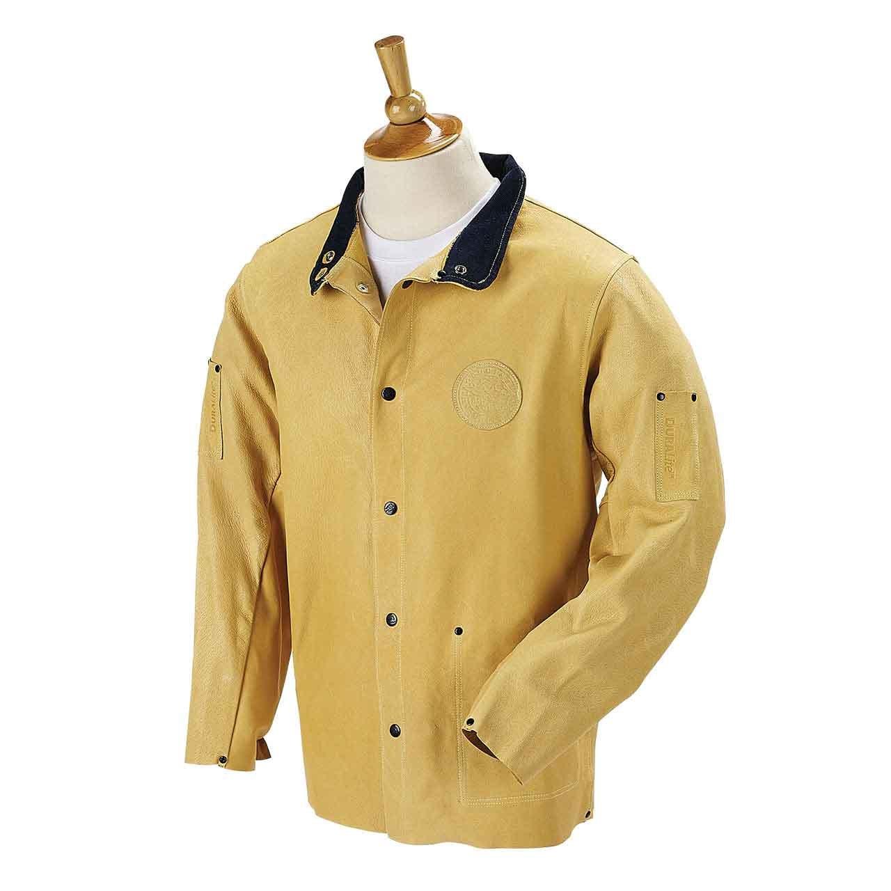 DuraLite Premium Grain Pigskin Welding Coat - 30'', Size X-Large by Black Stallion (Image #1)