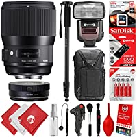 Sigma 135mm f/1.8 DG HSM Art Lens for Nikon F DSLR Cameras + 64GB 17PC Bundle for D810 D750 D610 D7500 D7200 D7100 D7000 D500 D5600 D5500 D5300 D5200 D5100 D3400 D3300 D3200 and D3100