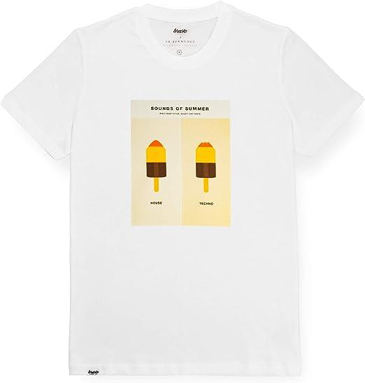 Brava Fabrics   Camiseta Hombre Manga Corta   Camiseta Blanca ...