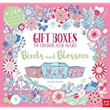 The Colouring Book of Beautiful Gift Boxes: Birds and Blossom (Colouring Book of Beautiful Boxes)