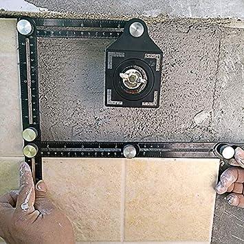 couvreurs Doolland R/ègle de Mesure dangle en m/étal charpentiers Artisans Angles Droits dangle r/églables pour Les constructeurs A2 architectes