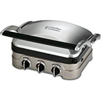 Cuisinart GR-4N Griddler All-in-One Panini Press, Flat Grill & Griddle, Non Stick