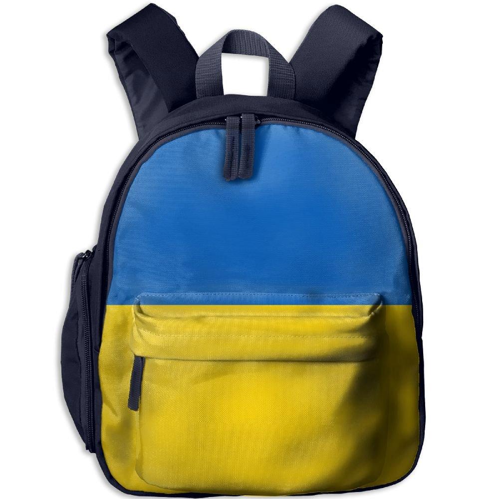 CHAN03 子供用 スクールバッグ 旅行 学生 バックパック 女の子 ウクライナ国旗 3Dプリントバックパック One Size ブルー htd66dj-39897950-Navy-29 One Size ネイビー B07G54CMT9