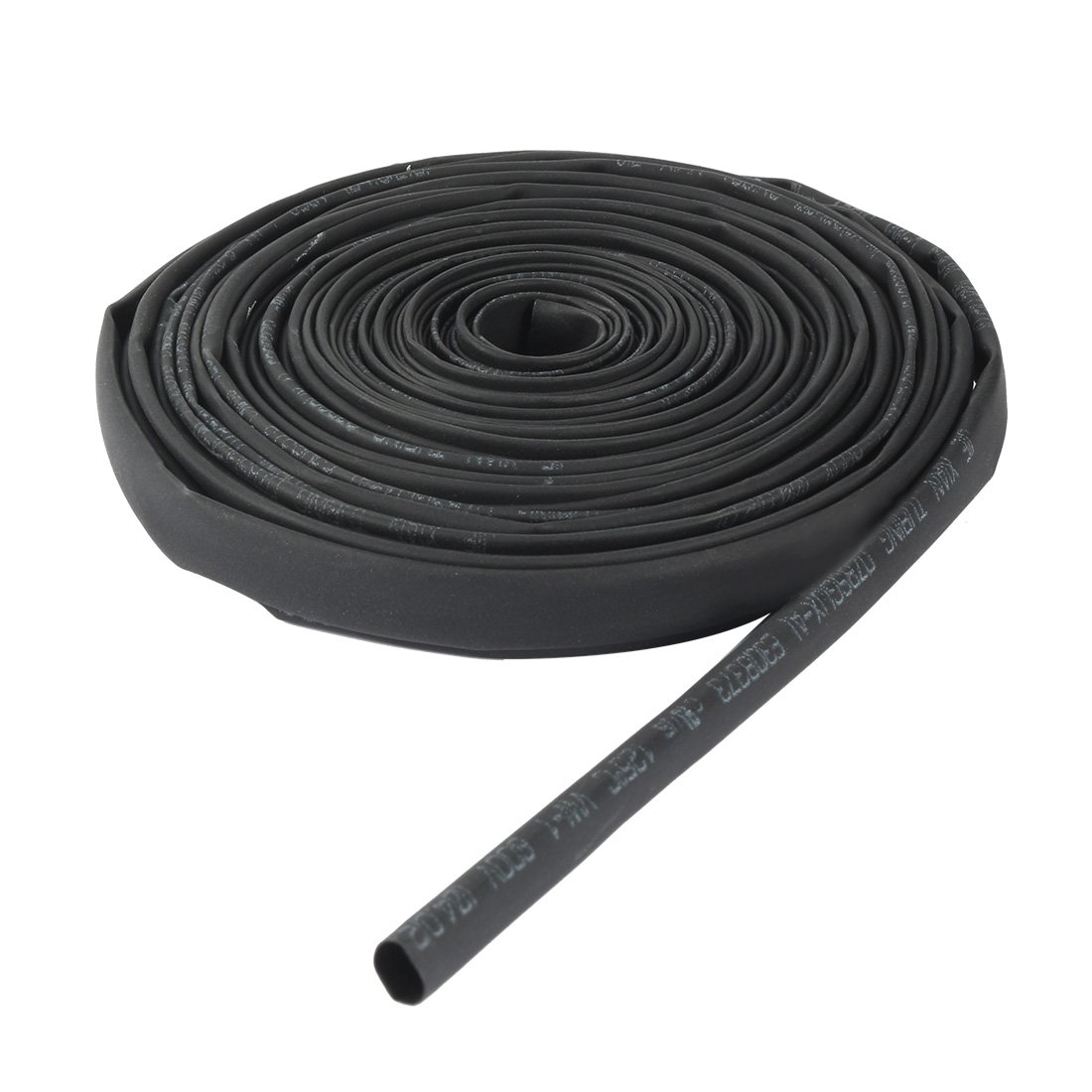 Aexit 4mm 2:1 Electric Motors Ratio Heat Shrink Tube Wire Wrap Cable Sleeve Tubing 6 Meters Fan Motors Length Black