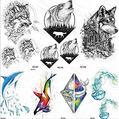 Tatuajes Temporales Niños Piratas Geometricwolf Howl Tatuajes ...