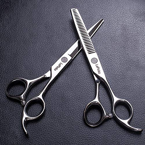 "LePinko 6.5"" Barber Hair Scissors Kit, Professional Cutting Shears Set, Japanese Stainless Steel"