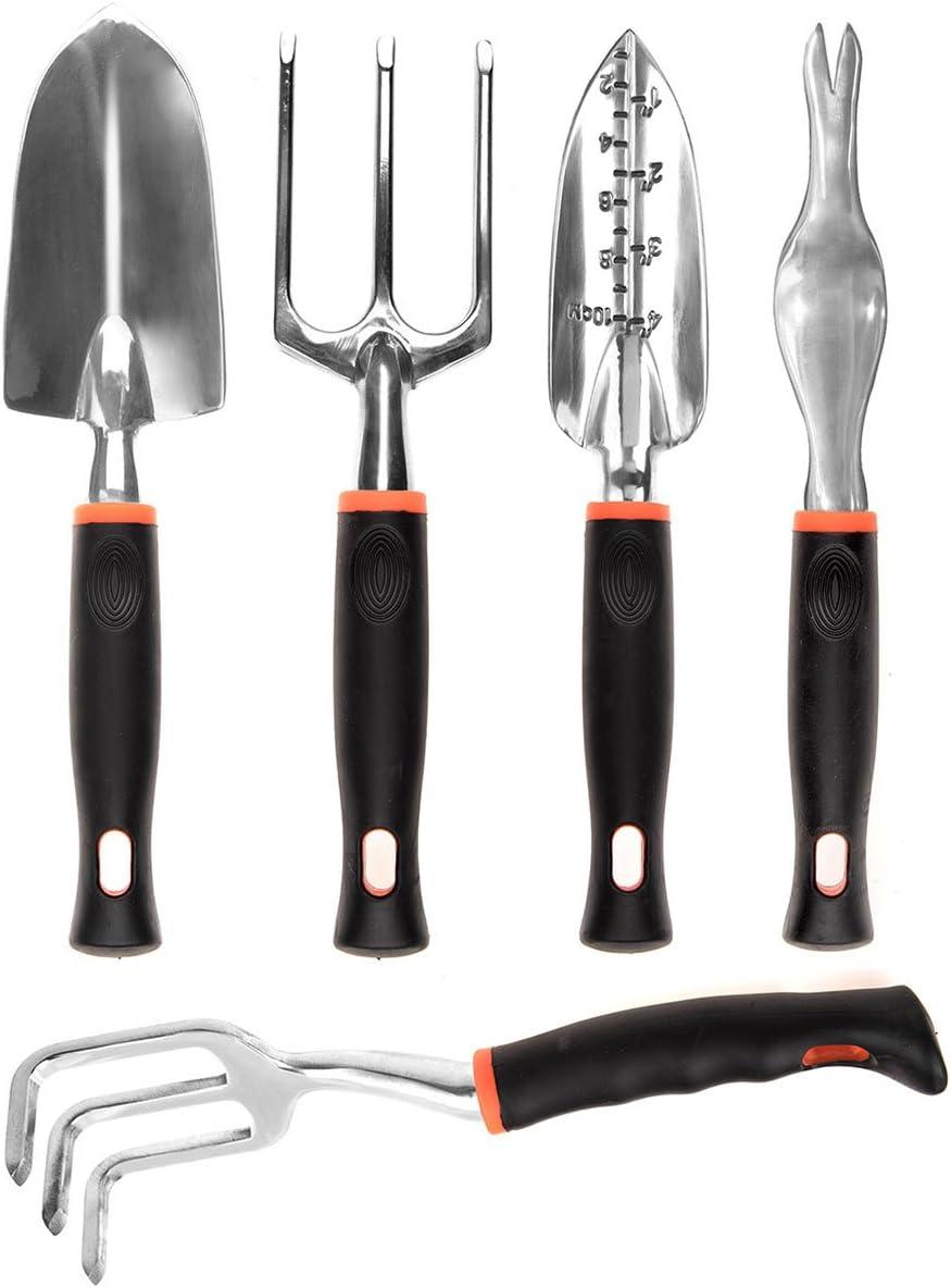 CIELCERA 5 piezas de jardinería conjunto de herramientas con caja ...