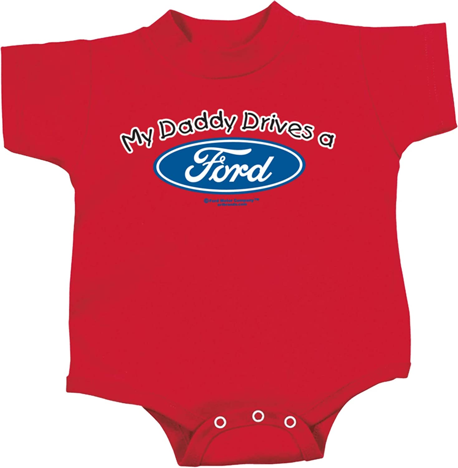Amdesco My Daddy Drives a Ford Officially Licensed Infant T-Shirt