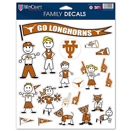 Longhorns Family Decal Sheet, 8.5 x 11-inches ()