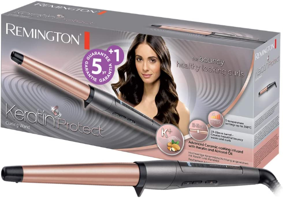 Remington Keratin Protect CI83V6, Rizador Barril de 19 - 28 mm