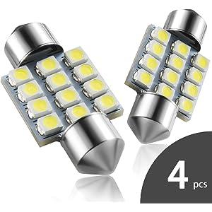 DE3175 31mm LED Interior Dome Light Map Bulb Door Courtesy For Car - Marsauto 1.25