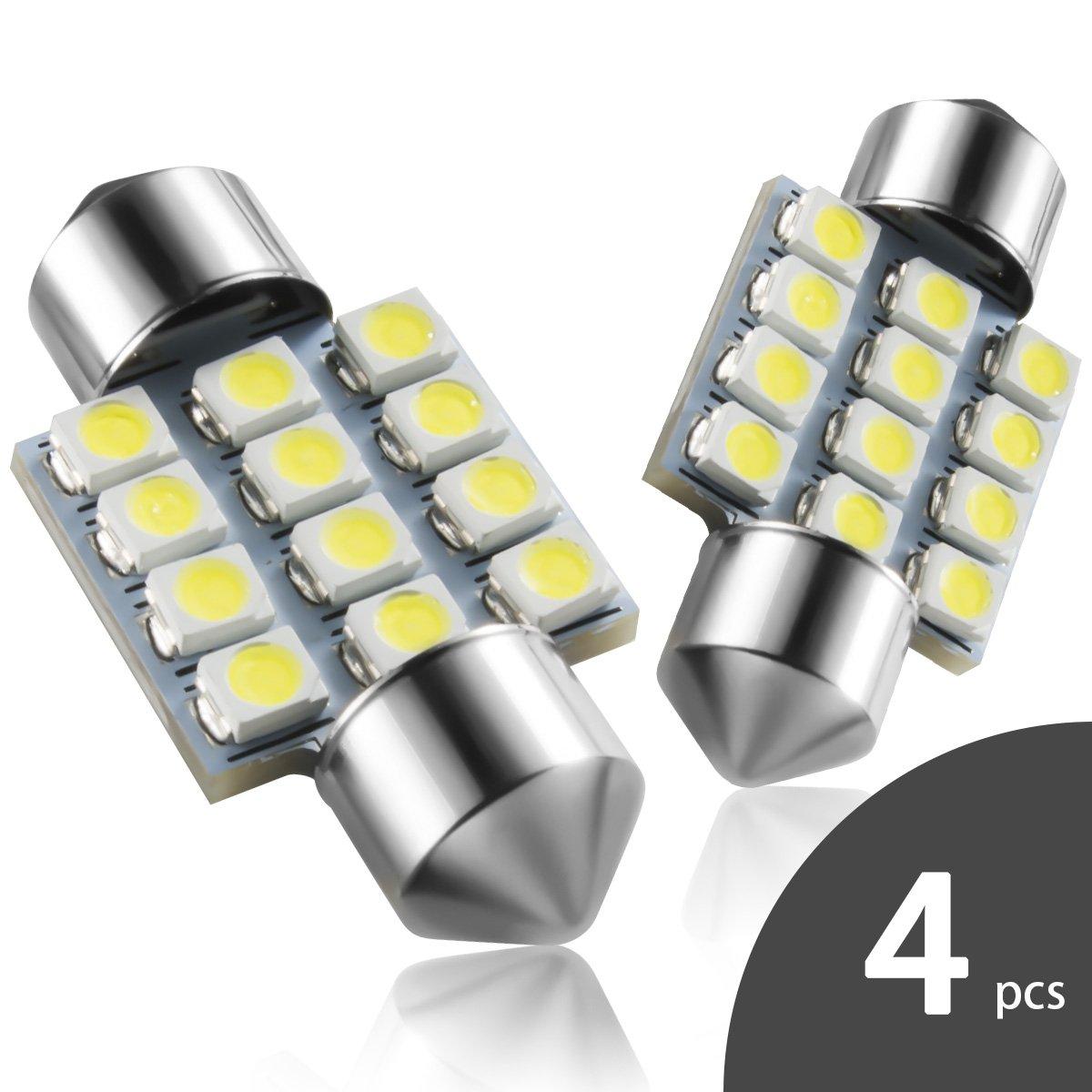 DE3175 31mm LED Interior Dome Light Map Bulb Door Courtesy For Car - Marsauto 1.25'' DE3021 DE3022 Festoon bulbs (4 pcs)
