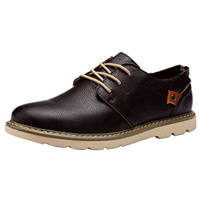 Abby 1333 Mens Bussiness Work Shoes Fashion Casual Leather Athletic Comfy
