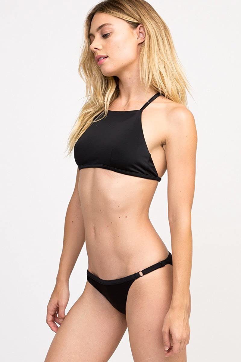 RVCA Womens Solid Crop Bikini Top