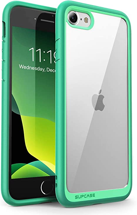 Amazon Com Supcase Unicorn Beetle Style Case For Iphone Se 2nd Generation 2020 Iphone 7 Iphone 8 Premium Hybrid Protective Clear Case Green