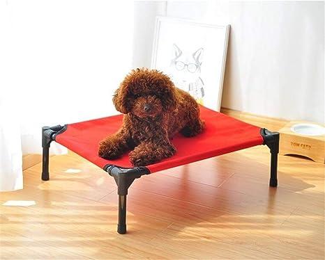 FVCDWSA Cama elevada para Mascotas, Cama portátil para Perros montada al Aire Libre para nutrición Salvaje, Tubo de Acero Resistente a la oxidación Tela ...