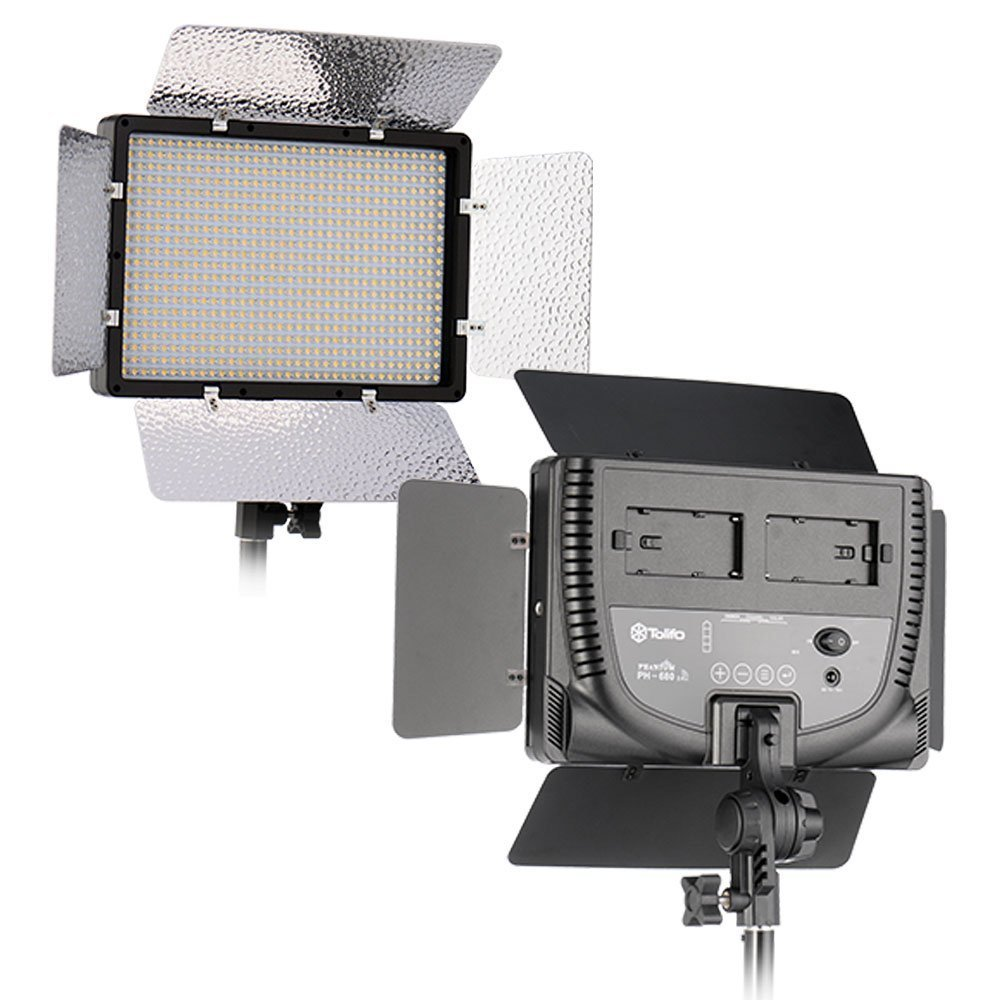 Tolifo PT-680S 2ライトキット 昼光色 5600K LED ポータブルライト アウトドア映画ビデオフィルム撮影用 リモコン付き   B07G5Y1Q9N